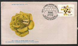 India  1980 Honeybees - 2nd Internation Conference On Apiculture  Bangalore  FD Cover  # 18861   D  Inde Indien - Abeilles