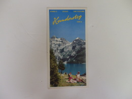 Dépliant Touristique Kandersteg Suisse. - Folletos Turísticos