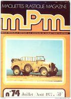 MAQUETTES-PLASTIQUE MPM-1977- 74-SOMMAIRE DETAILLE + PHOTOS - Riviste
