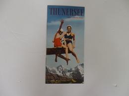 Dépliant Touristique Sur Thunersee Berner Oberland En Suisse. - Dépliants Touristiques