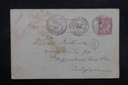 FRANCE - Entier Postal Type Mouchon De Sidi Okba Pour La Belgique En 1903 - L 32512 - Cartes Postales Types Et TSC (avant 1995)