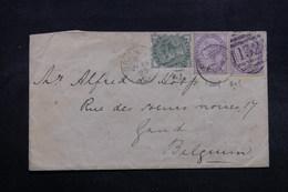 ROYAUME UNI - Enveloppe De Brighton Pour La Belgique En 1883 , Affranchissement Plaisant - L 32513 - Briefe U. Dokumente