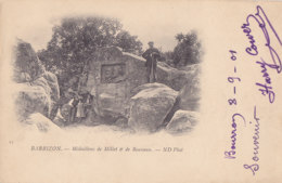 Barbizon (77) - Médaillons De Millet Et De Rousseau - Barbizon