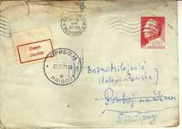 Yugoslavia Postal Stationery 1971 - Priboj ( Post Label - Decede ) - Brieven En Documenten