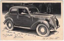 AUTO CAR VOITURE FIAT 1100 - FOTOCARTOLINA ORIGINALE 1942 - Automobiles