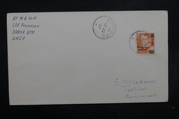 DANEMARK - Enveloppe Pour Le Danemark En 1957 , Affranchissement  ( Surchargé ) Et Oblitération Plaisants - L 32517 - Lettres & Documents