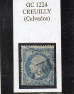 Calvados - N° 22 Obl GC 1224 Creuilly - 1862 Napoleon III