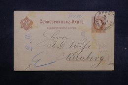 AUTRICHE - Entier Postal Commerciale ( Repiquage Au Verso ) De Prag Pour Nürnberg En 1883 - L 32518 - Entiers Postaux
