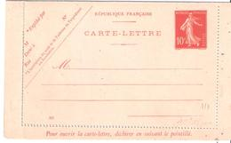 10c.semeuse Maigre Numéro 707 - Postal Stamped Stationery