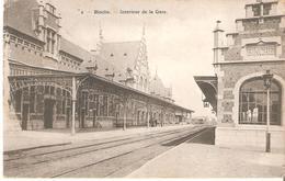 BINCHE - Intérieur De La Gare - L'état Très Bon! - 1919 - Binche