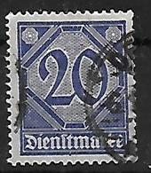 Deutsches Reich Dienstmarke Mi 26 Aus 1920  Gestempelt - Service