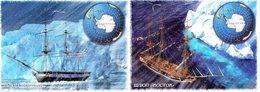 """Russia 2019 2 Post Cards FLEET. SHIPS  SLOOPS """"MIRNY"""", """"VOSTOK"""". 200 YEARS  DISCOVERY  ANTARCTICA - Aardrijkskunde"""