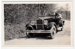 AUTO CAR VOITURE ANNI '30 NON IDENTIFICATA -  FOTO ORIGINALE - Automobiles