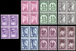 Congo 0168/74** X4  Scènes Indigènes  MNH - 1923-44: Neufs