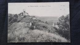 CPA 54 Pierre Percée - Les Ruines Et Le Village - Frankreich