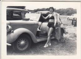 AUTO CAR VOITURE HILMANN HAWK CABRIOLET DONNA WOMAN - FOTO ORIGINALE - Automobiles