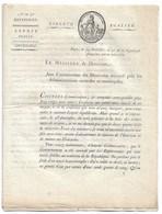 CIRCULAIRE An 5  ESPRIT PUBLIC    10 Pages Tjrs D'actualité  Signé François De NEUFCHATEAU   TTTB état - Documents Historiques