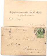 Visitekaartje - Carte Visite - Capitaine Commandant Ad. De Macar - Bruxelles - Visiting Cards