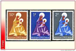 Congo 0362/64** Noel - Madone -MNH - - 1947-60: Neufs