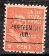 USA Precancel Vorausentwertung Preo, Locals Iowa, Montgomery 704 - Vereinigte Staaten