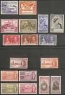 VIRGIN ISLANDS 1937 - 1951 COMMEMORATIVE SETS INCLUDING SILVER WEDDING AND UPU MOUNTED MINT  Cat £27+ - British Virgin Islands
