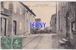 CPA De VALDERIES (81) - La GRAND'RUE Vers La PLACE N° 69 - ANIMATIONS - édit L. CORBIERE - France