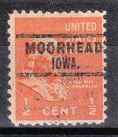 USA Precancel Vorausentwertung Preo, Locals Iowa, Moorhead 741 - Vereinigte Staaten