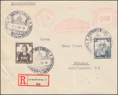589+596 Nothilfe Volkstrachten R-Bf. ASF Vordemfelde ASCHAFFENBURG 7.1.36 + SSt - Deutschland