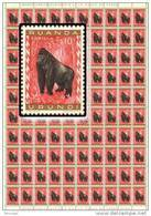 Ruanda 0205** Gorille - Sheet / Feuille De 100  - MNH - - Feuilles Complètes