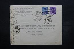 EGYPTE - Enveloppe Commerciale De Alexandrie Pour Paris En 1952 Avec Contrôle Postal - L 32532 - Égypte