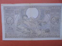 BELGIQUE 100 FRANCS 25-2-38 CIRCULER (B.4) - [ 2] 1831-... : Belgian Kingdom
