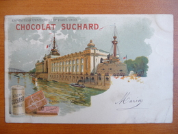 CPA - Chocolat Suchard - Exposition Universelle De Paris 1900 - Maritime - Précurseur - Circulée, Cachet Fleurus 1902 - Werbepostkarten