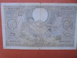 BELGIQUE 100 FRANCS 22-3-38 CIRCULER (B.4) - [ 2] 1831-... : Belgian Kingdom