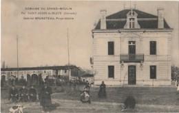 C6-33) SAINT AUBIN DE BLAYE (GIRONDE) DOMAINE DU GRAND MOULIN - GABRIEL BRUNETEAU , PROPRIETAIRE - (ANIMEE - 2 SCANS) - France