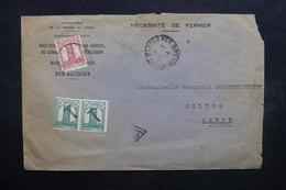 MAROC - Enveloppe Du Protectorat Pour Azrou En 1944 , Affranchissement Plaisant Dont Cachet Taxe Sur Timbres - L 32534 - Lettres & Documents