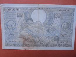 BELGIQUE 100 FRANCS 27-4-38 CIRCULER (B.4) - [ 2] 1831-... : Royaume De Belgique