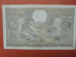 BELGIQUE 100 FRANCS 26-9-38 CIRCULER (B.4) - [ 2] 1831-... : Royaume De Belgique