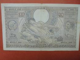 BELGIQUE 100 FRANCS 5-10-38 CIRCULER (B.4) - [ 2] 1831-... : Belgian Kingdom
