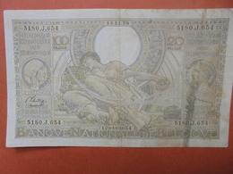BELGIQUE 100 FRANCS 14-11-38 CIRCULER (B.4) - [ 2] 1831-... : Belgian Kingdom