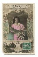 Carte Postale Ancienne Fantaisie - 1er Avril - Poissons - Fillette - Erster April
