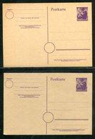 SBZ / 2x Postkarte Mi. P 4 Mit Verschiedenen Papierfarben ** (18145) - Sowjetische Zone (SBZ)