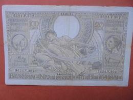 BELGIQUE 100 FRANCS 18-1-39 CIRCULER (B.4) - [ 2] 1831-... : Royaume De Belgique