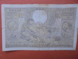 BELGIQUE 100 FRANCS 6-2-39 CIRCULER (B.4) - [ 2] 1831-... : Belgian Kingdom