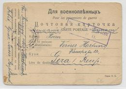 KRIEGSGEFANFENENPOST - 1917 - CARTE De PRISONNIERS ALLEMAND En RUSSIE à IRBIT (PERM) => GERA - Covers & Documents