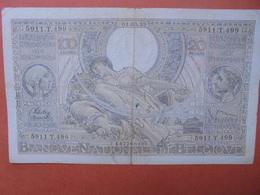 BELGIQUE 100 FRANCS 1-3-39 CIRCULER (B.4) - [ 2] 1831-... : Royaume De Belgique