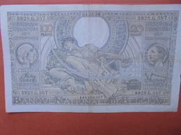 BELGIQUE 100 FRANCS 4-3-39 CIRCULER (B.4) - [ 2] 1831-... : Royaume De Belgique