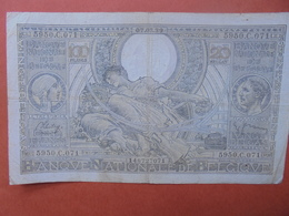 BELGIQUE 100 FRANCS 7-3-39 CIRCULER (B.4) - [ 2] 1831-... : Royaume De Belgique