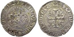 #12_FRANCE MÉDIÉVALE - Charles VII [1422-1461] - Blanc à La Couronne (4e émission) - Lyon (2,98 G ; Dup. 519C). - 987-1789 Monnaies Royales