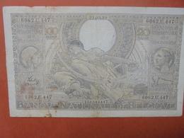 BELGIQUE 100 FRANCS 23-3-39 CIRCULER (B.4) - [ 2] 1831-... : Royaume De Belgique