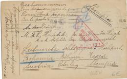 KRIEGSGEFANFENENPOST - 1915 - CARTE De PRISONNIERS AUSTO-HONGROIS En RUSSIE à OBOJANY => LEITMERITZ (BÖHMEN) - 1917-1923 Republic & Soviet Republic
